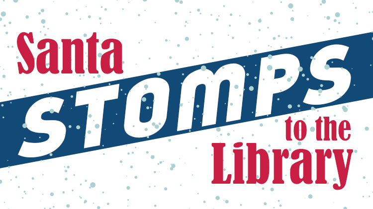 Santa Stomps to the Library