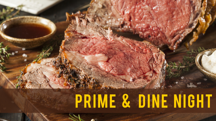 Prime & Dine Night at the River Bend Pub