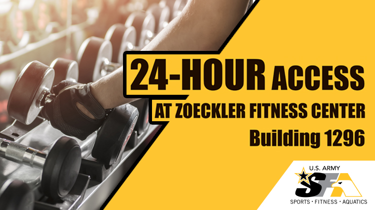 24 Hour Access at Zoeckler Fitness Center