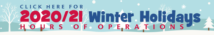 Click here for Winter 2020/21 Holiday Hours